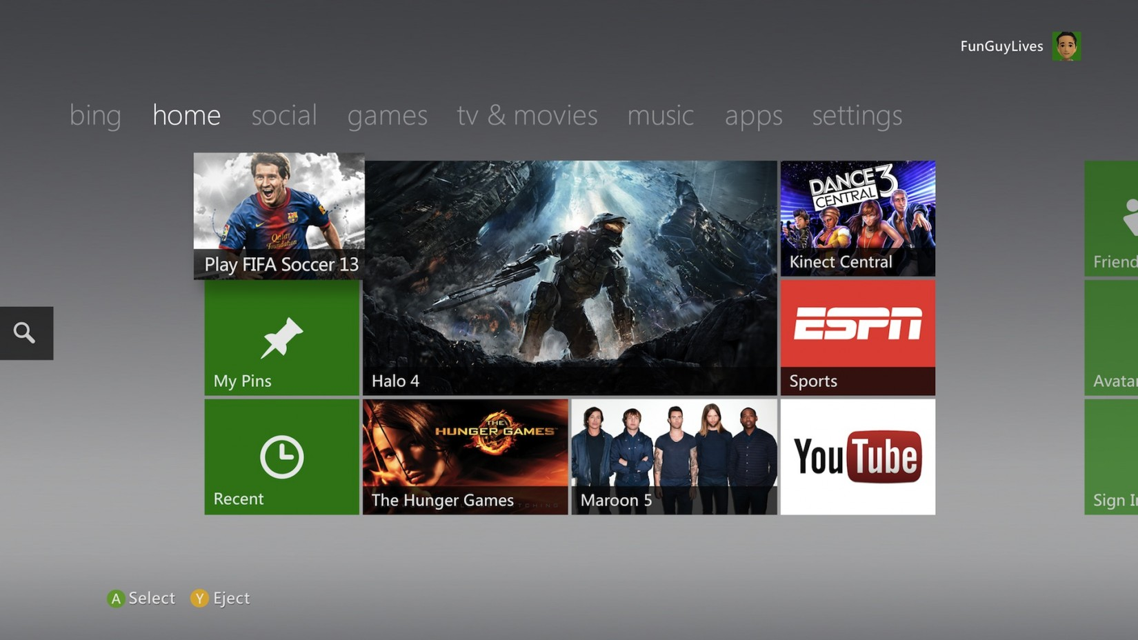 XBOX home screen font