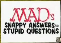 Snappy answers to stupid questions font