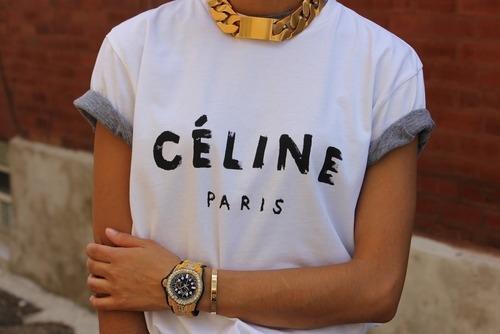 quality design a7441 74a71 T Shirt Celine Paris FontForum OPTkXiuwZl