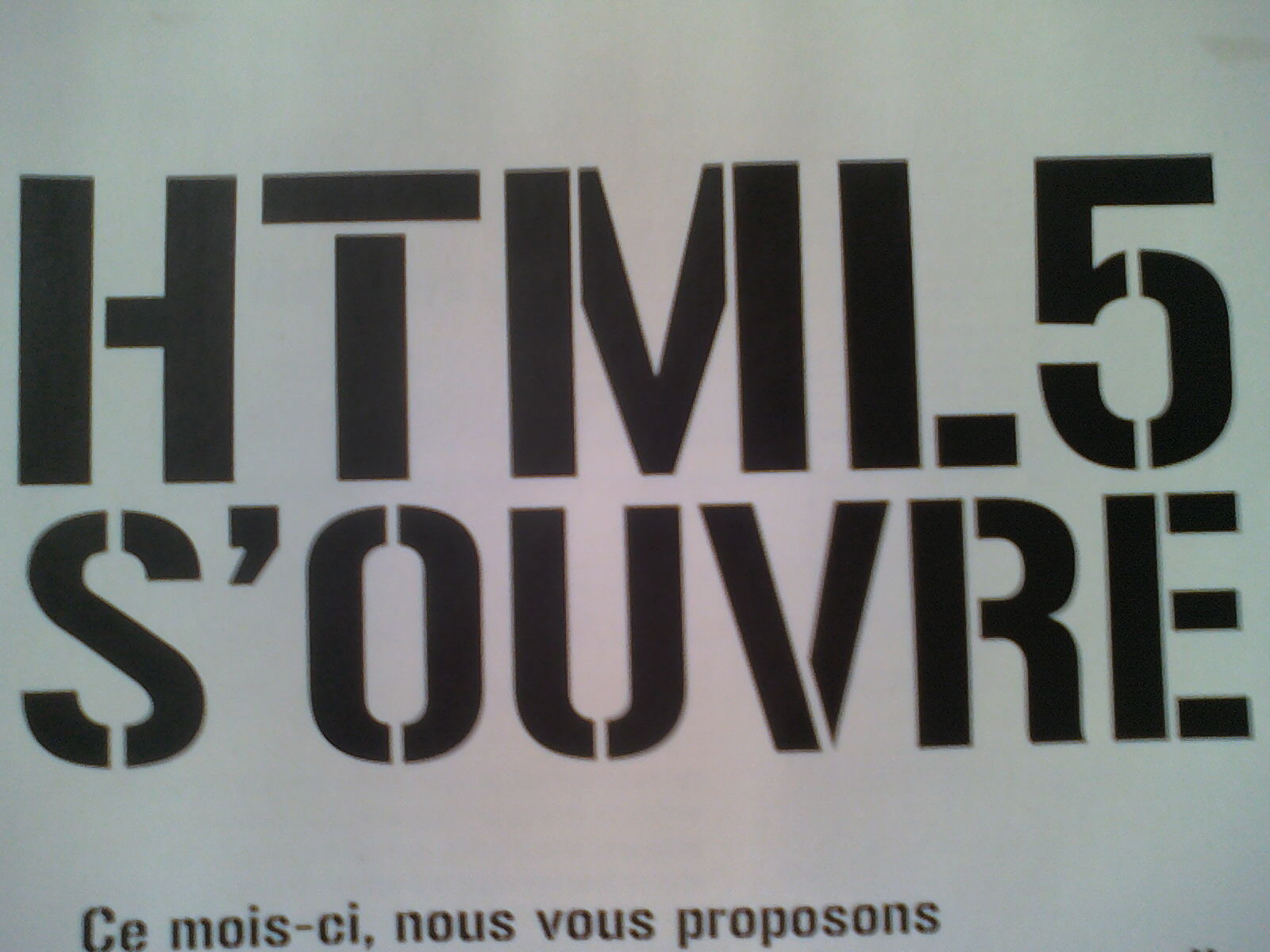 HTML 5 S'OUVRE