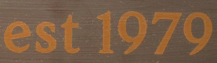 "Can someone help me with the ""est 1979"" please?"