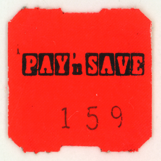 Pay 'n Save Price Tag Font