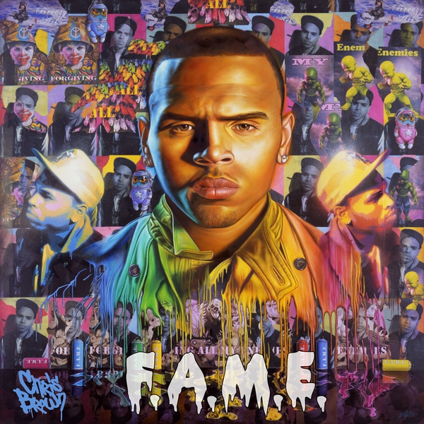 What font is used for Chris Brown's FAME album