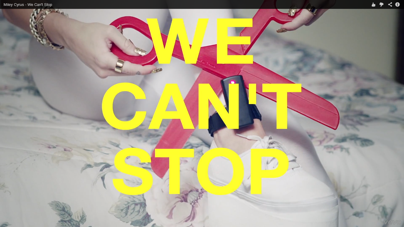 What is this font used in Miley Cyrus' We Can't Stop video?