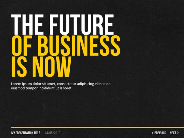 what font is the future of business is now?