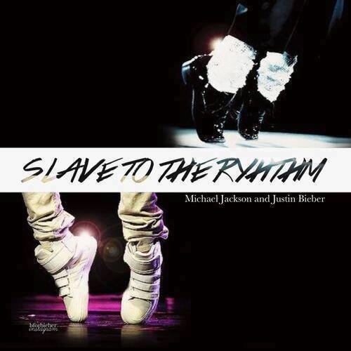 "What font is ""slave to the rhythm""?"