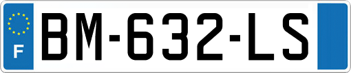 French vehicle plate