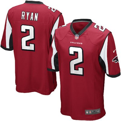 Falcons 2 Matt Ryan Nike Game Jersey Home Red Team Color