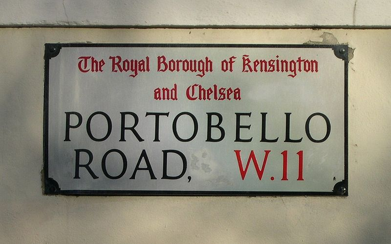 Old Style London Street Sign