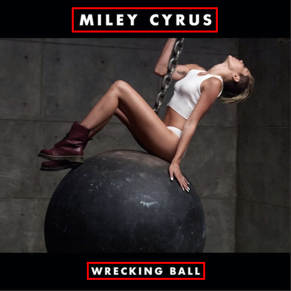 "Miley Cyrus ""Wrecking Ball"" font?"