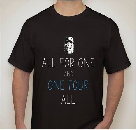 ALL FOR ONE AND ONE FOUR ALL FONT?