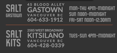 "Could you please tell me what the ""Gastown"" and ""Kitsilano"" fonts are?"
