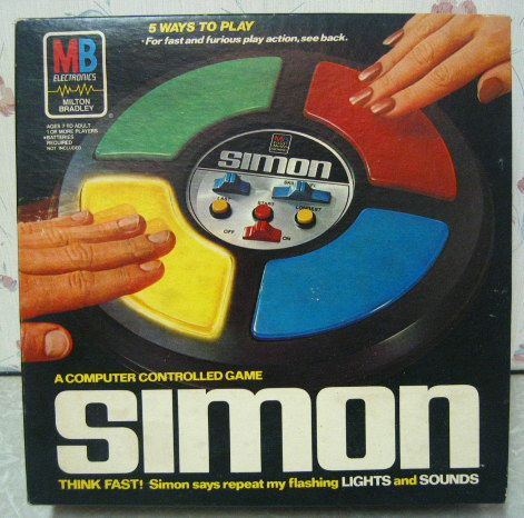 SIMON game from the 80's - Similar font?
