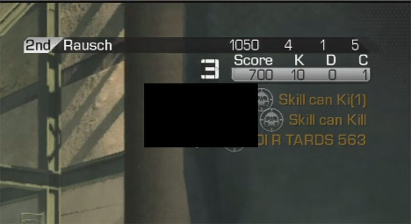 Call of Duty Ghosts Killfeed Font