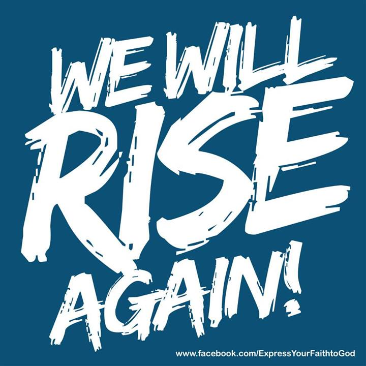 "'we will rise again""please help.,"