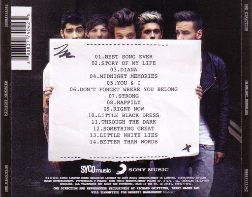 One Direction Tracklist Font - forum | dafont.com