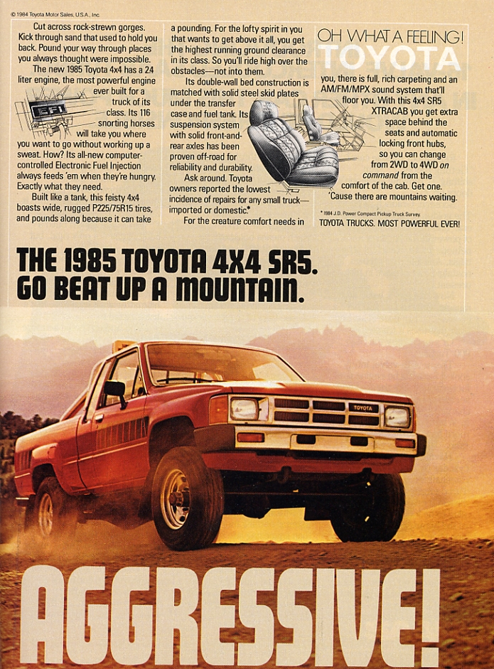 old toyota poster font