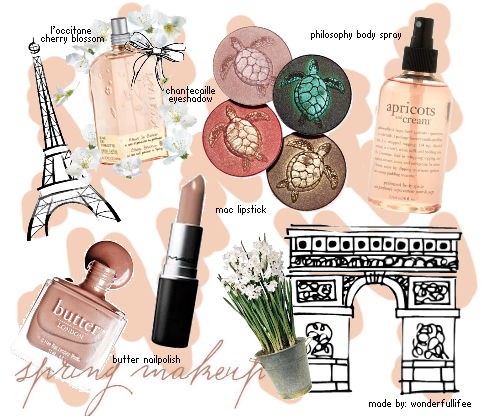"want font are used on ""spring makeup"" and the little font"