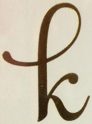 Letter K In Different Fonts