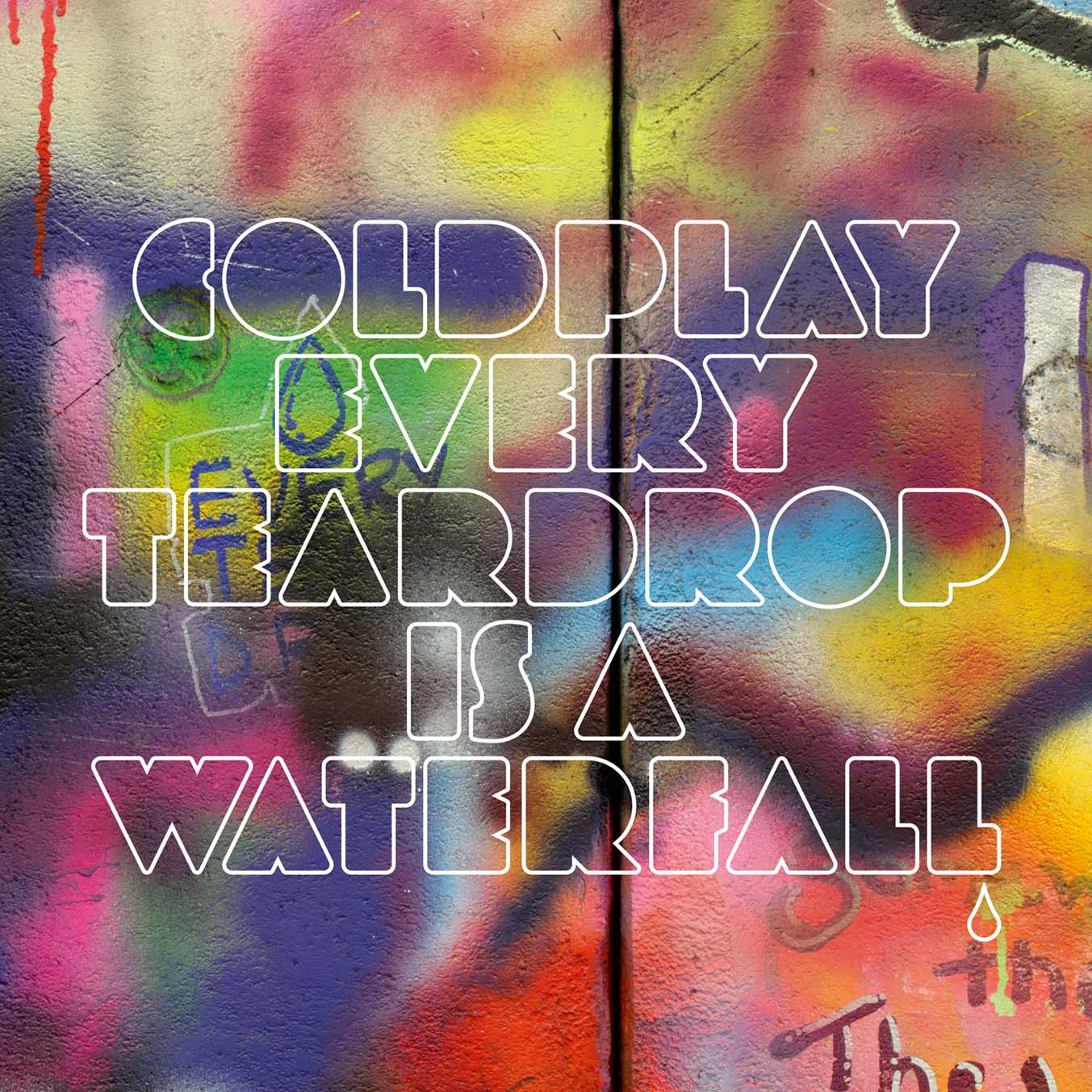 "Coldplay - ""Every Teardrop Is A Waterfall"" Font"