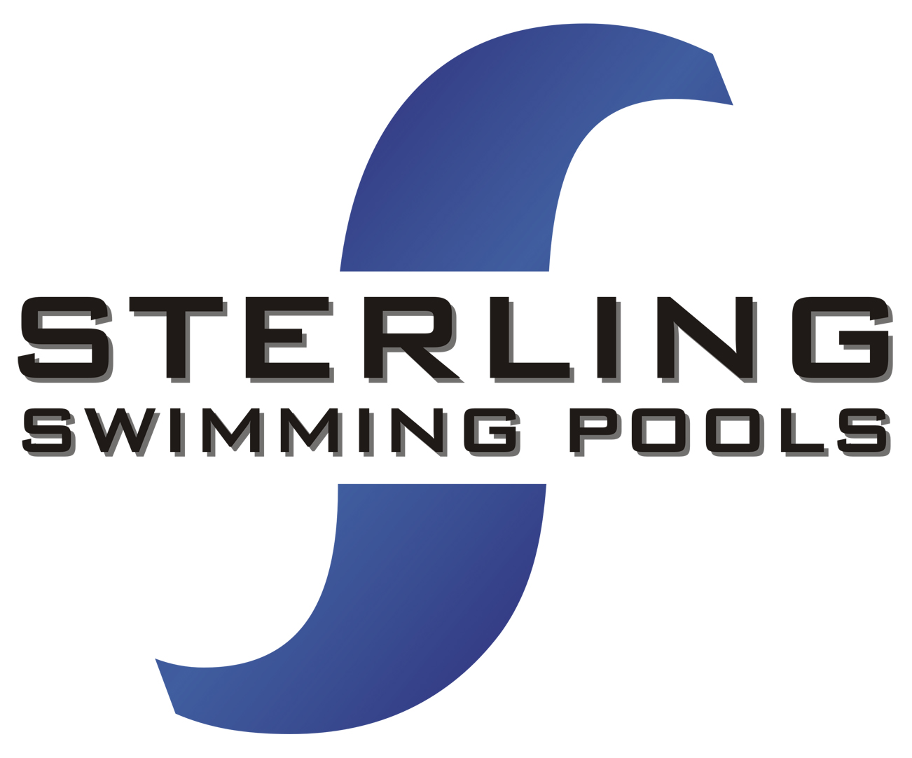 Sterling Pools font??