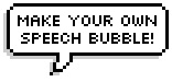 Pixel Speech bubble on Tumblr