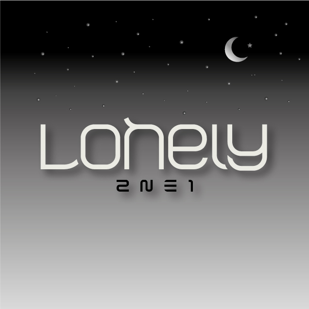 what font was used in the 2ne1 lonely digital single cover?