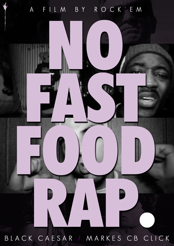"What's the font used in the ""No fast food rap"" phrase"
