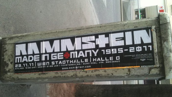 Rammstein 2011 MADE IN GERMANY font????