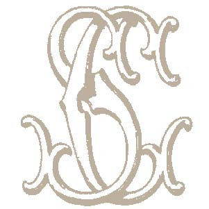 old monogram font and letters