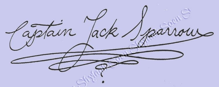 Jack Sparrow handwriting