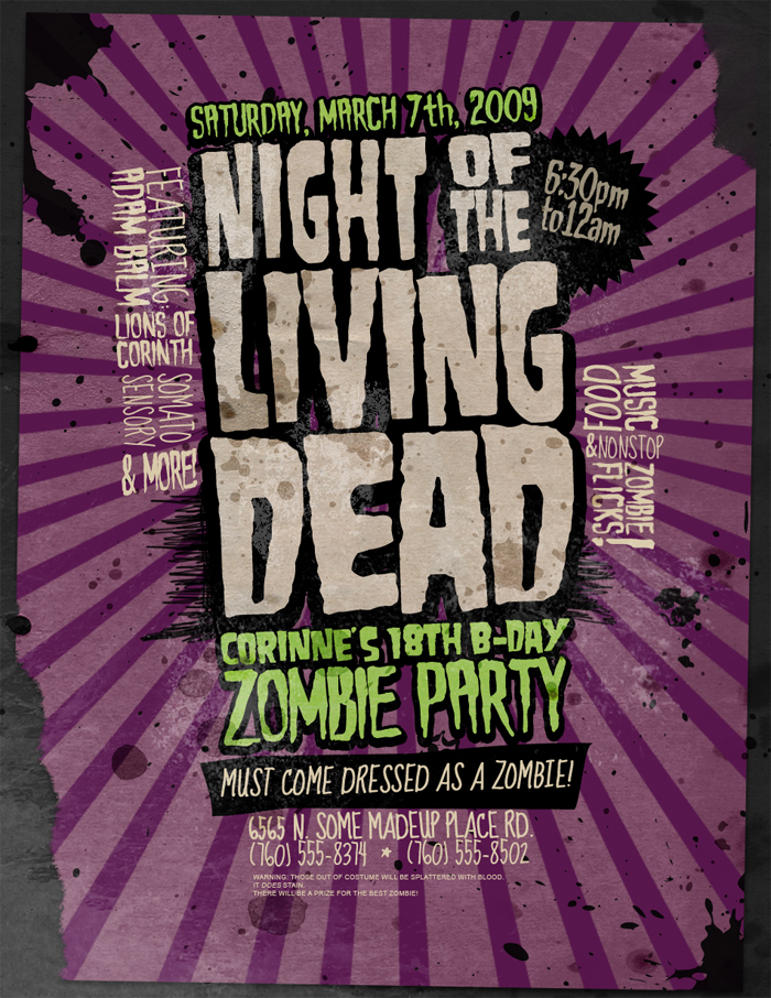 Night of Living Dead Font?