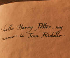Harry Potter Chamber of Secrets - Tom Riddle's Diary font