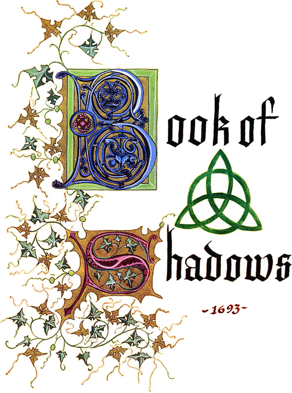 How To Make A Book Of Shadows Cover ~ Charmed book of shadows cover page fancy font