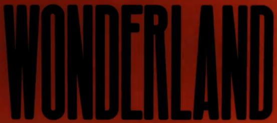 Font from Wonderland by Natalia Kills Music Video