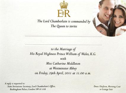 Prince harry and kate royal wedding invitation font forum dafont stopboris Choice Image