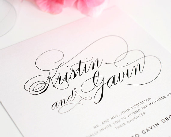 wedding invitation card design software free elengat black white
