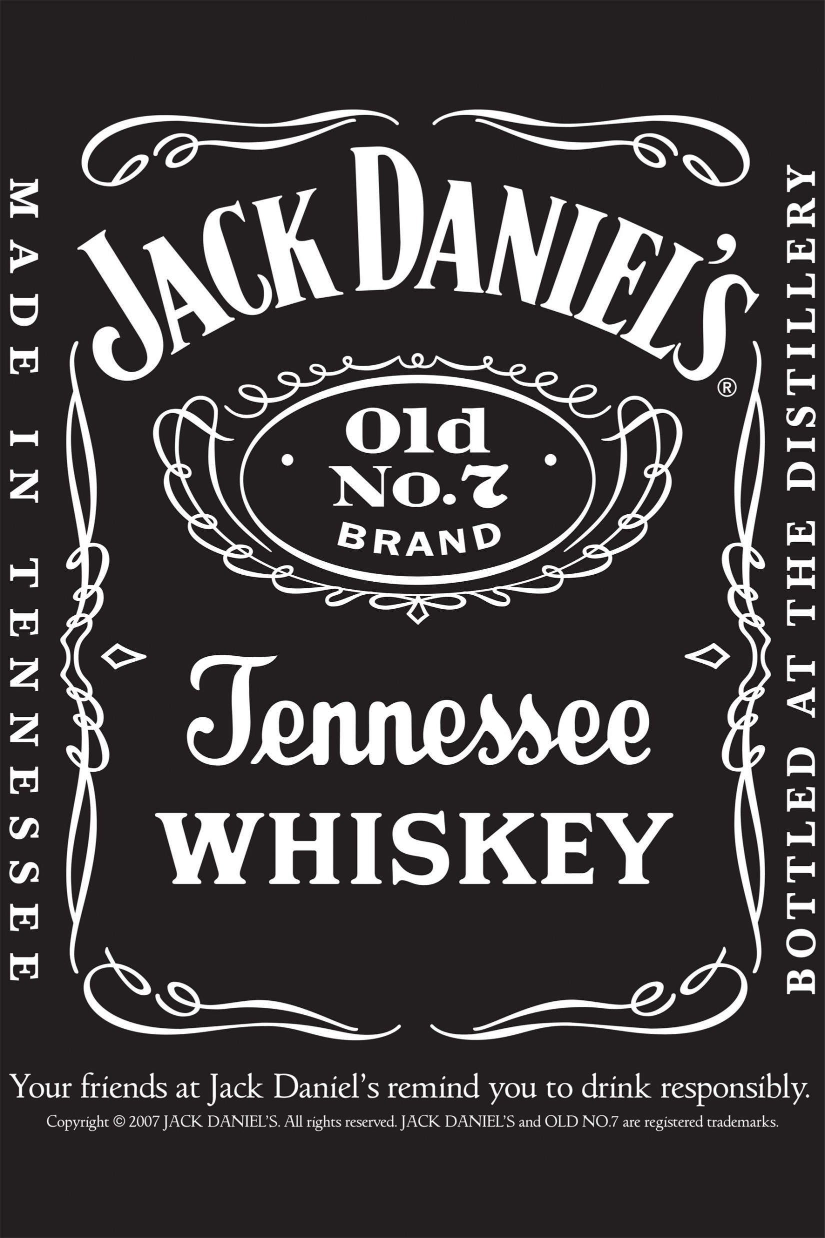 It's just a picture of Genius Jack Daniels Label Template