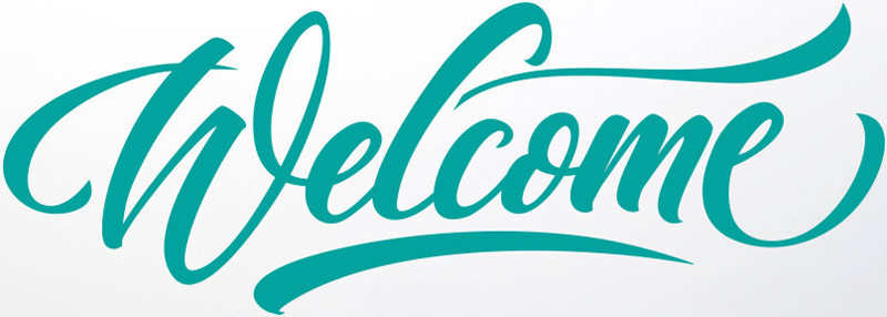 Welcome text font