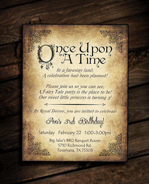 Cinderella Party Invitation with awesome invitation layout
