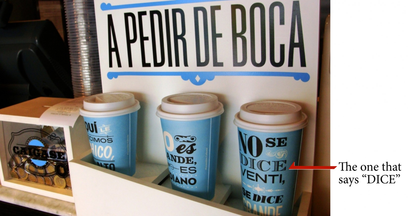 One of the fonts from a 'Cielito Querido Caf�' cup