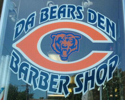 Da Bears Den Barber Shop Logo