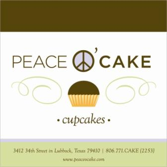 "Font used for ""Peace O' Cake""?"