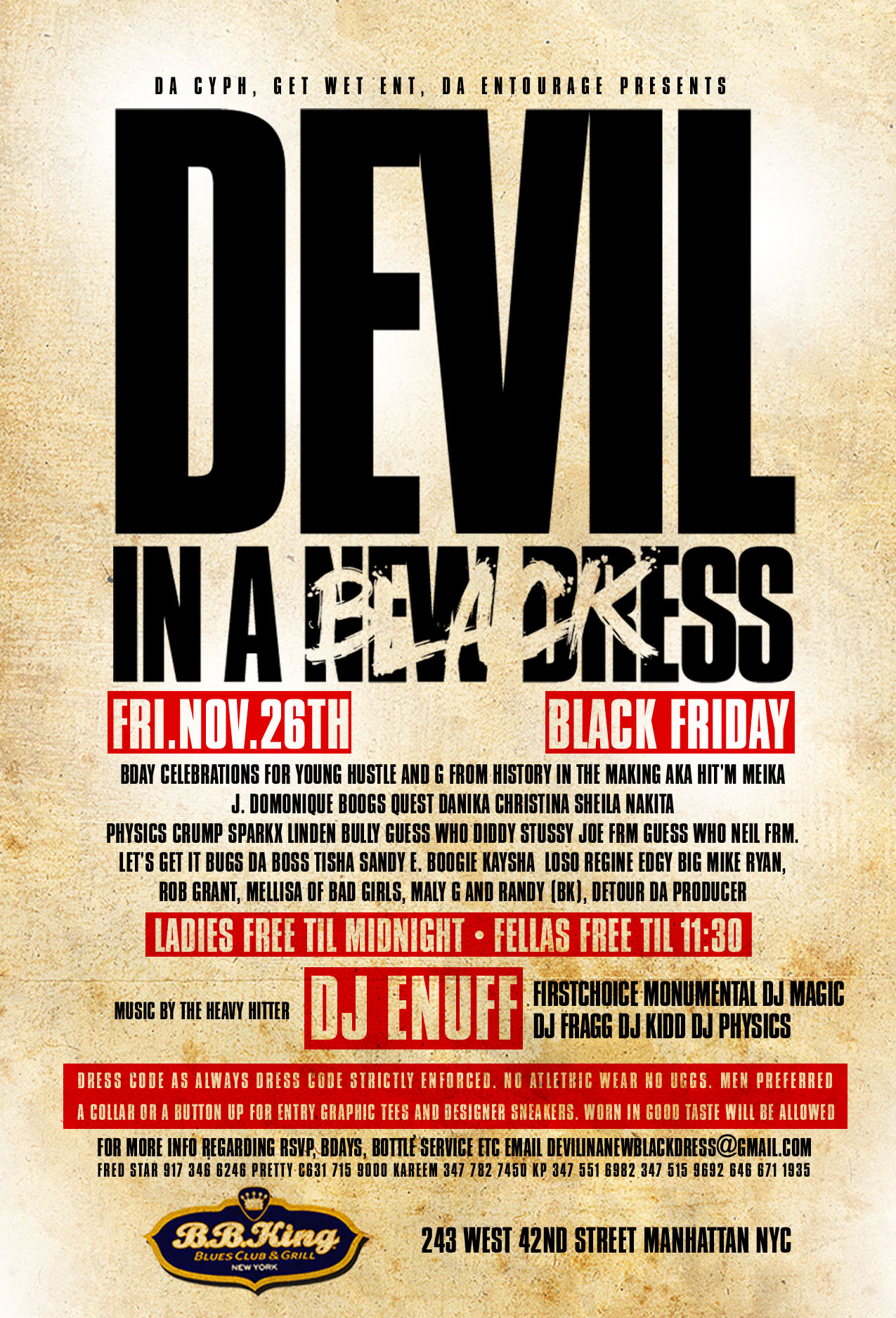 what font is the DEVIL in this flyer please?