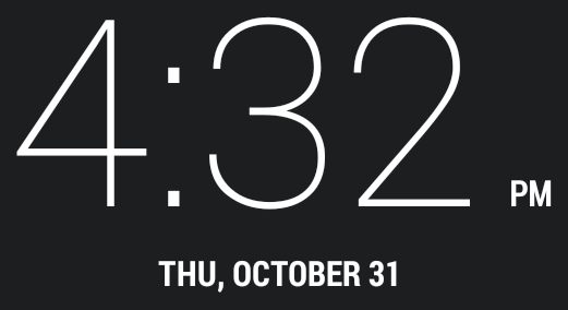 Android clock font?