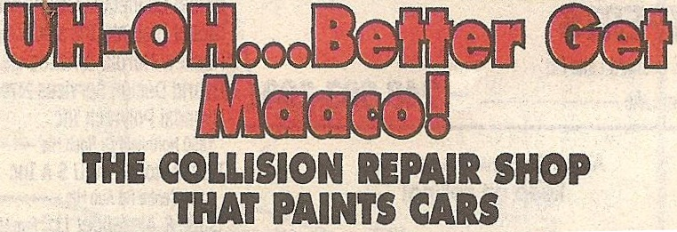 """UH-OH...Better Get Maaco! THE..."" Font"
