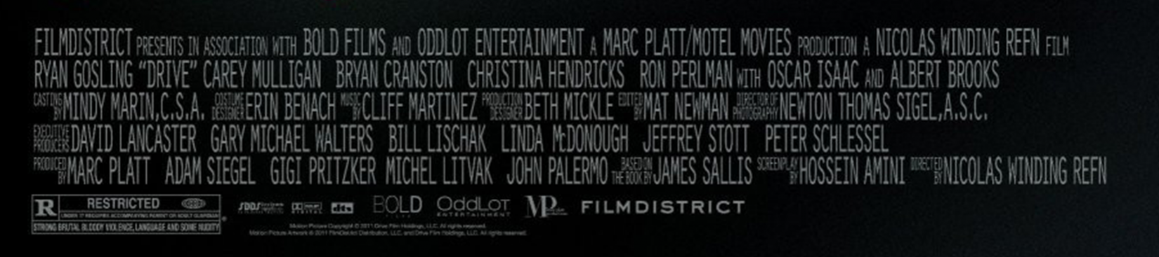 Credits on movie posters