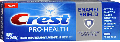 font for crest toothpaste?
