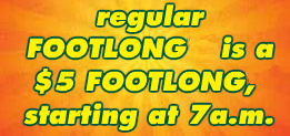 """regular FOOTLONG is a..."" Font"