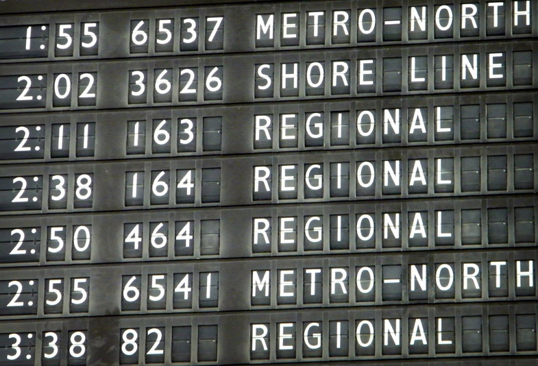 trainstation schedule-board